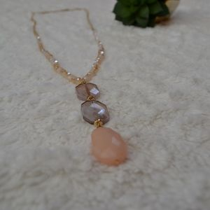 3-stone gold necklace